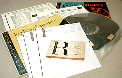 Alex Steinweiss: Corporate design for Remington Records